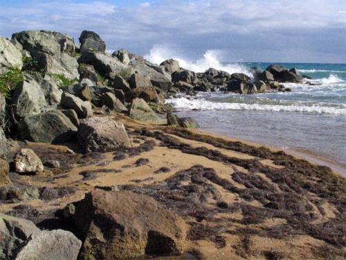 obligatory 'crashing waves on beach' shot