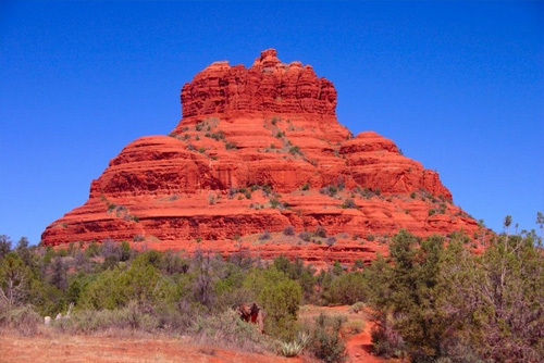 Bell Rock as seen straight on - Sedona, AZ
