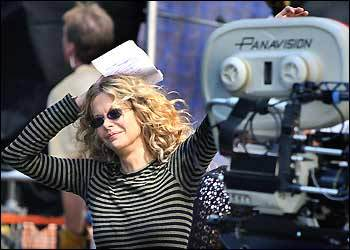 Meg Ryan was the focus of attention on Newbury Street during filming of 'The Women.'