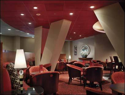 Relax at the Ruby Room at the Onyx Hotel.