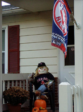 Hazel Bayers sent us this photo of her front porch and says Red Sox Nation is alive and well in Keysville, Va.