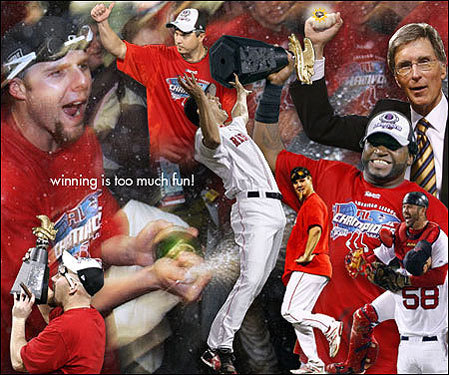 AnnMarie Sivret of Stow, Mass., created this fantastic collage after the Red Sox defeated the Indians in the ALCS.