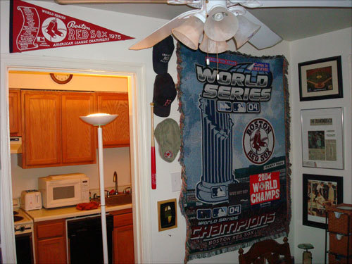 Jason McCool of Silver Spring, Md., built this Sox mural in his living room.