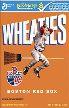 We asked Boston.com visitors to Photoshop images of our champions, and here's what they came up with... Todd Laramie of Marblehead created this cereal box and titled it, 'Sweepies, the breakfast of Champions.'