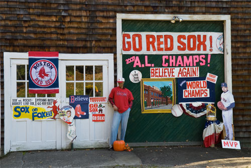 This Red Sox-themed home belongs to Rosemary Bawn of Stow.