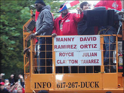 David Ortiz looked out on the crowd. Submitted by Sanj Kharbanda.