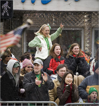 Crowds gather during South Boston's annual St. Patrick's Day parade. Submit your Boston photos