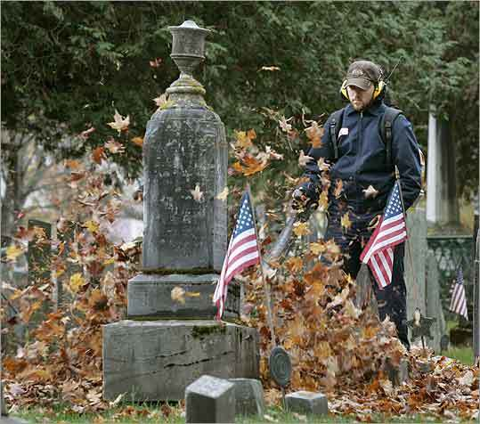 The cemetery in Chester is the resting place for several of Ethan Allen's Green Mountain Boys of the Revolutionary War.