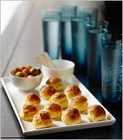 Sophisticated French cheese puffs are cocktail ready (and a whole lot easier to make than they look).