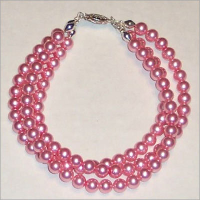 Pink glass pearls