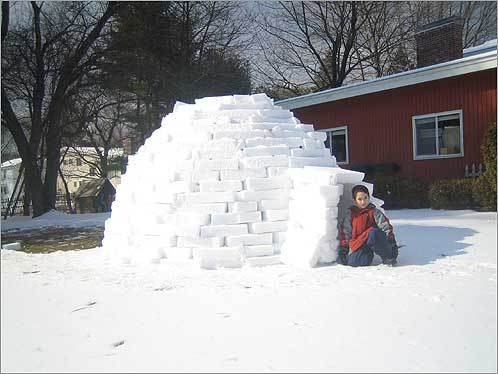 Hagay took this photo of his son Ori in the igloo they built. Read the story Send us your igloo photos