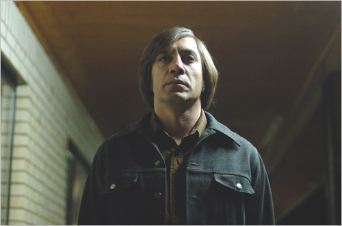 Javier Bardem as Anton Chigurh in a scene from 'No Country for Old Men.'