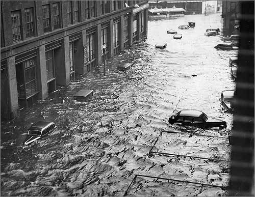 Roaring across New York's Long Island into New England midday on Sept. 21, 1938, this hurricane is considered by most to be region's 'worst storm' of the century. When it was over, some 600 people were reported killed, 2,000 injured, and more than 18,000 buildings destroyed. Downtown Providence was flooded by tides that surged 13 feet above normal. At one point, winds of 121 miles per hour were recorded at the Blue Hill Observatory in Milton. After this storm, the government began developing more advanced hurricane warning systems.