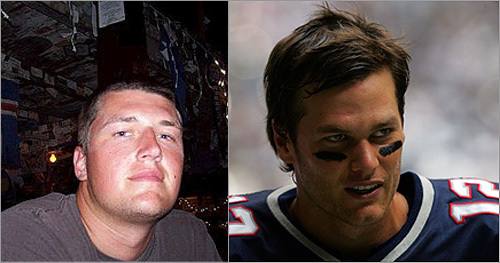 Tyler Pratt and Tom Brady