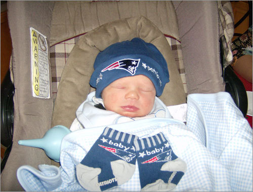 Riley lives in Seattle, Wash., but he's originally from Nashua, N.H., and his Patriots Nation credentials are strong.