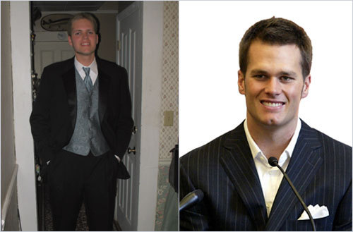 Cambridge resident Christopher Mullaney sent in this photo, saying that many people think he resembles Tom Brady. <!-- // define variables var date = new Date(); var current_time = date.getTime(); // write SCRIPT tag to browser document.writeln(' '); // -->