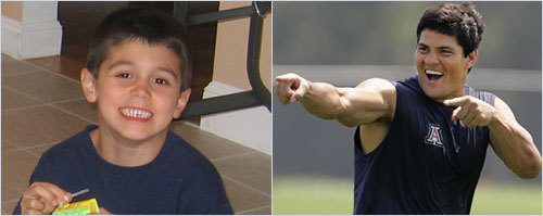 Kim Torra of Reading sent in this photo of her son who she thinks looks like Tedy Bruschi. <!-- // define variables var date = new Date(); var current_time = date.getTime(); // write SCRIPT tag to browser document.writeln(' '); // -->