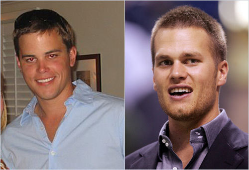 Anne Hubard sent in this photo of her boyfriend, William Wingfield, of Charleston, S.C. Hubard says strangers are constantly approaching him and telling him he looks like QB Tom Brady. <!-- // define variables var date = new Date(); var current_time = date.getTime(); // write SCRIPT tag to browser document.writeln(' '); // -->