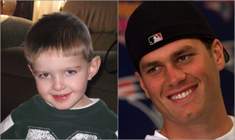 Plymouth resident Nancy Slaney sent in this photo of her 3 1/2 year old son who she feels resembles Tom Brady. <!-- // define variables var date = new Date(); var current_time = date.getTime(); // write SCRIPT tag to browser document.writeln(' '); // -->