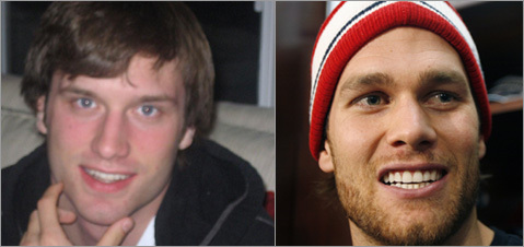 Bedford, N.H., resident Gail York sent in this photo of her son, who she said people say looks like Tom Brady. <!-- // define variables var date = new Date(); var current_time = date.getTime(); // write SCRIPT tag to browser document.writeln(' '); // -->