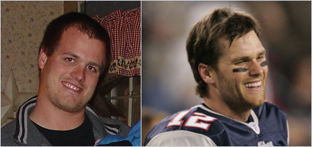 Kate McGovern sent in this photo of her brother John from New Ipswich, N.H. She adds that John is stopped all the time in stores for looking like Tom Brady. <!-- // define variables var date = new Date(); var current_time = date.getTime(); // write SCRIPT tag to browser document.writeln(' '); // -->