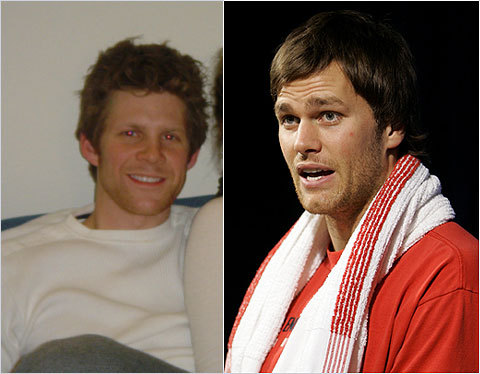 Lisa Stewart of Boston sent in this photo of friend Josh Englund, who she thinks looks exactly like Tom Brady. <!-- // define variables var date = new Date(); var current_time = date.getTime(); // write SCRIPT tag to browser document.writeln(' '); // -->