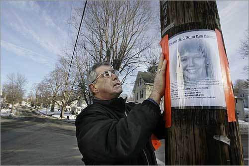 Dick Moreau has hung 10,000 fliers asking for the return of his daughter Kimberly.