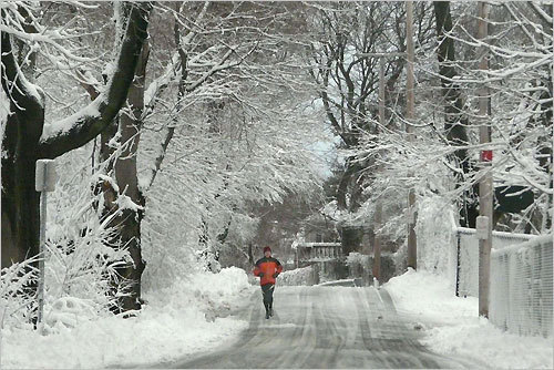 Henry Zbyszynski sent in this photo of an unknown jogger on Winter Island in Salem.