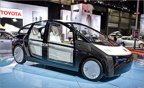Toyota 1/X Concept The Toyota Prius is a gas guzzling, inefficient barge of a car. Compared, that is, with the same company's 1/X Concept, which at 926 lbs. is one-third the weight and supposedly returns up to 150 mpg. Unlike the Prius, the 1/X is a plug-in hybrid and uses higher capacity (and higher price) lithium-ion batteries, in addition to a teensy 500cc engine. Toyota promises a 600 mile range on only four gallons of gas. While the body is reinforced with carbon fiber, it's plastic, so avoid those lead-footed toddlers bombing around in the Power Wheels Jeeps. It could get ugly for you. (Cars.com)