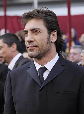 Spanish actor Javier Bardem, nominated for an Oscar for best actor in a supporting role for his work in 'No Country for Old Men.'