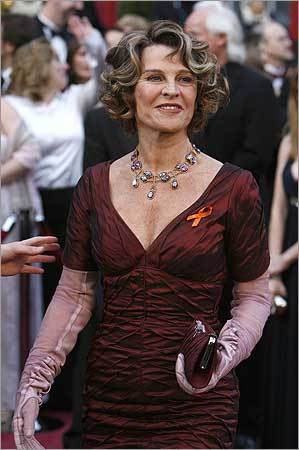 Julie Christie of Britain, best actress Oscar nominee for 'Away From Her' arrives at the 80th annual Academy Awards in Hollywood.