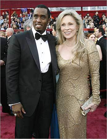 Actress Faye Dunaway and entertainer Sean Combs.