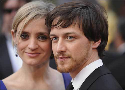 Scottish actor James McAvoy and his wife, Anne-Marie Duff.