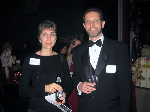 From left: Andrea Doukas, a member of the Brattle Board, and Philip Weiser, the Board President, were interested to see who would win the Oscar for the best foreign film.