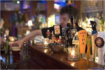 6. Common Ground 85 Harvard Ave., Allston Bartender Wally Furlong of West Roxbury makes sure his customers are taken care of. &#147;Kind of an &#145;eatin' and drinkin&#146; place, but it's usually empty in the afternoons,&#148; Lynch said.