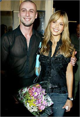 Designer Rami Kashou (left) and Actress Jessica Alba