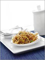 Sweet vermicelli noodles with walnuts and pistachios is a popular Iraqi dessert with roots in medieval Baghdad.