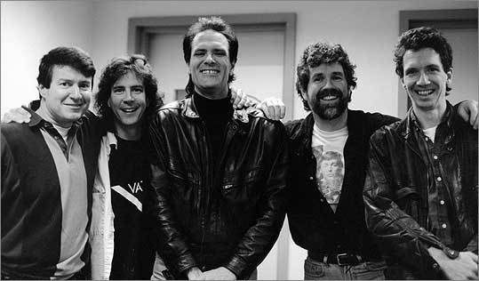 After the suicide of frontman and Boston legend Brad Delp (second from right), the members of Beatlejuice have been looking for a replacement. Speaking of what it will take before the band picks someone new, bassist Joe Holaday (far right) said, 'We're going to have to be floored.'