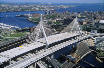 Duckboats below! (10 percent of the vote) The bridge named for old Lenny Zakim Has cables so strong you can't break 'em. To the folks it ensnarls Far over the Charles: There are duckboats below! Why not take 'em - from j3brad4d