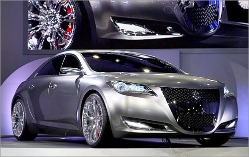 Suzuki Kizashi 3 Concept This sleek four-door Suzuki isn't like any of the company's rather bland offerings. The Japanese automaker is well known for its motorcycles and has yet to bring serious performance to four wheels. A 3.6 liter V6 provides 300 horsepower to all tires, wrapping ornate 21-inch rims. Hopefully, Suzuki won't be too conservative if a model based on this concept emerges. (Stan Honda/AFP/Getty Images)