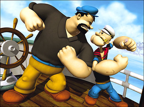Bluto and Popeye