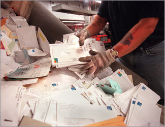 Postal service mail sorters, processors, and processing machine operators