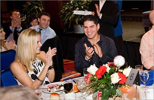 Globe Magazine staff writer Neil Swidey unearthed ten things you didn't know about Red Sox outfielder Jacoby Ellsbury. (Read Neil Swidey's story here. ) He's never been a Romeo. 'In high school,' his mom says, 'he had one girlfriend,' two years older than he was. He's been dating his girlfriend, Kelsey Hawkins (left), a fellow alum of Oregon State University, for about a year and a half.