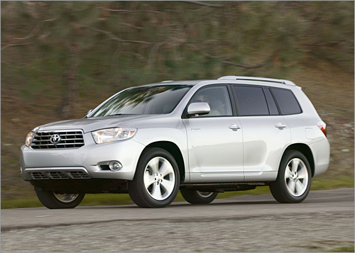 Toyota Highlander Base MSRP: $27,300 - $39,950 The second-generation 2008 Highlander is larger and more powerful than before, which gives the midsize SUV more breathing room between it and the automaker's recently enlarged RAV4 compact SUV. The gas-powered Highlander gets a new 3.5-liter V-6; a gas/electric Highlander Hybrid is also offered. The 2008 Highlander is about 4 inches longer, 3 inches wider and an inch taller than the outgoing model. Ground clearance measures 8.1 inches. (Toyota)