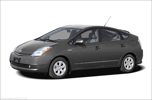 Toyota Prius Base MSRP: $21,100 - $23,370 When Toyota introduced its gasoline/electric hybrid Prius for 2001, the manufacturer became the second automaker to offer a hybrid-powered passenger car, following on the heels of the two-passenger Honda Insight. The current Prius debuted for 2004. For 2008, features like cruise control and minor accessories have been deleted from the base trim level to lower the cost. (Cars.com)