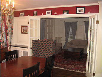 A look at the home's dining room.