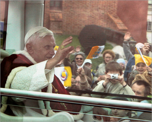 In May 2006, about a year after his election, the pope went to Poland where he encouraged prayers for the beatification of Pope John Paul II.