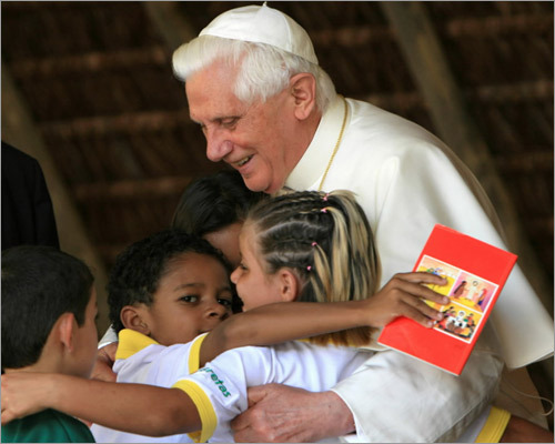 The pope visited Brazil in May 2006, where he attended the conference of the Latin American and Caribbean Bishops. On a visit to a drug rehabilitation center he said that God would punish drug dealers, saying, 'Human dignity cannot be trampled in this way.'