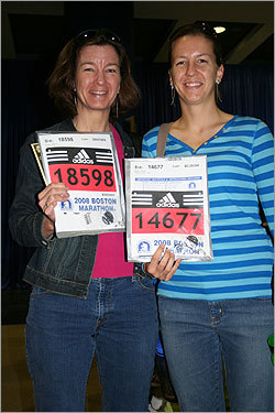 Mother and daughter Maria Olson, 44, and Amy Olson, 22, were running in Amy's first Boston Marathon together. Maria ran in Boston in 2004, and said then she wouldn't do it again until one of her children qualified to participate with her.