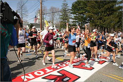 A total of 25,271 runners registered for this year's Boston Marathon. The average age is 41. A little more than 59 percent are men, while 41 percent are women.